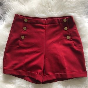H&M red shorts